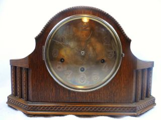 1920 ' S German Black Forest Haller 8 Day Westminster Chime Shelf Mantel Clock photo