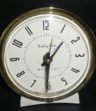 Baby Ben Westclox Wind - Up Clock Made In Scotland Works 1950 ' S photo
