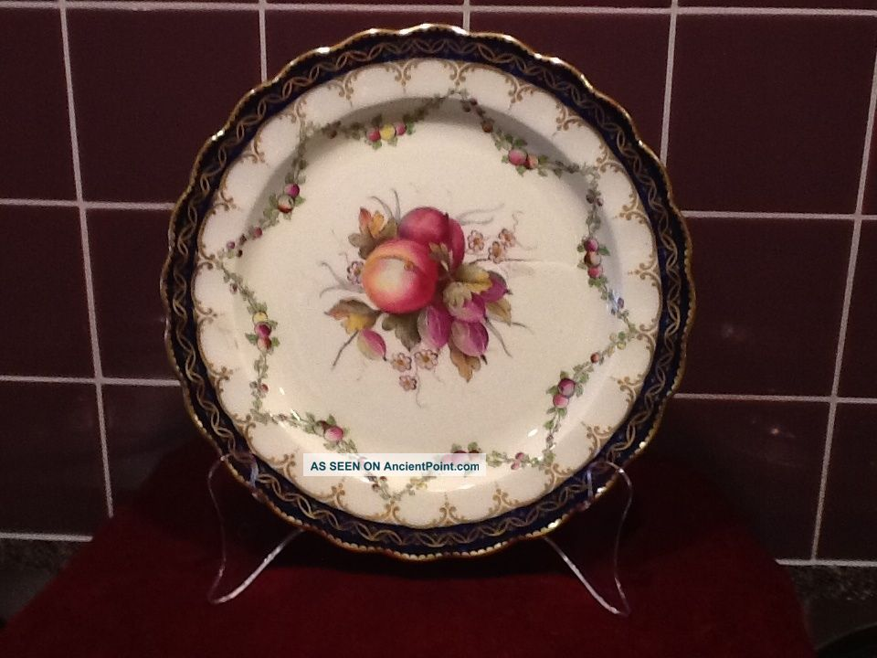 Royal Worcester Hand Painted Fruit Plate 1