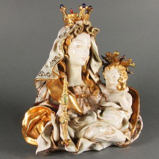 Pattarino Christian Sculpture Mary Madonna Baby Jesus Christ Florence Italy Nor photo