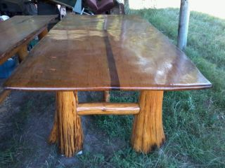 Cypress Hand Built Table - 300yr.  Old Wood photo
