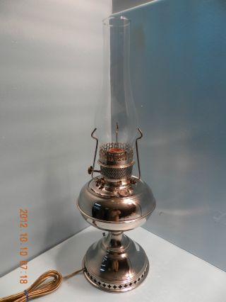 Antique 1800 ' S Working Rayo Oil Lamp Converted To Electric Rare photo