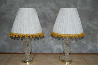 Vintage Crystal Lamps Zajecar Made In Yugoslavia 20