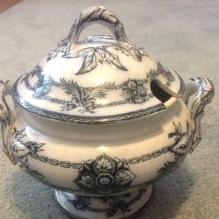 Rare Antique Wedgwood Lidded Sauce Tureen Indian Star Pattern photo