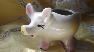 Not Three Little Piggy Planters,  But 4 Check Out Each Photo.  Vintage,  Cute photo