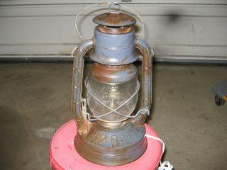 Antique Dietz Ny Usa Rr Railroad Train Vintage Lantern No2 Primitive Steampunk photo