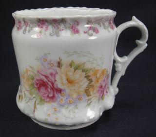 Mustache Cup Ct Germany Circa 1900 Flowered Decoration photo