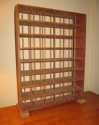 Antique Wooden Store Display Shelf Display Stand photo