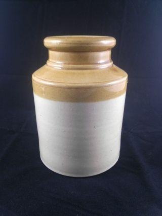 Antique Ceramic Oyster Jar George Skey Cotton Barlow 1890 England Vintage photo