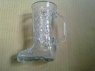 Antique Vintage Unique Glass Vase Shoe Boots Shape Design Very Old Handle 6