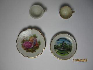 Collector Plates And Cups,  Porcelaine Limoges Castel France,  Gettysburg,  Pa 1863 photo