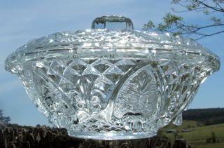 Lovely 1970 ' S Kig Malaysia Lidded Glass Candy Dish - Vgc photo