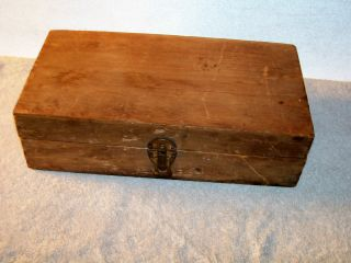 Great Vintage Dove Tailed Wooden Box photo