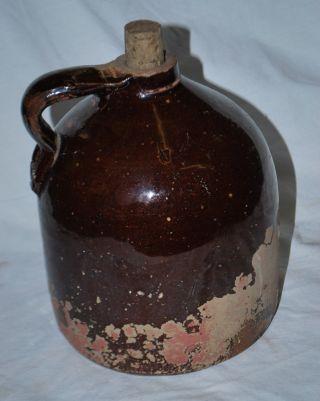 Vintage Moonshine Jug,  White Lightning Stoneware Crockery photo