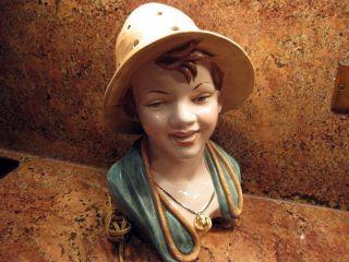 Vintage Boy Figurine Italian Night Light photo