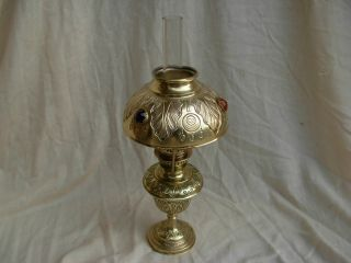 Antique French Brass Kerosene Lamp,  Art Nouveau. . . photo