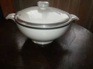 Czechoslovakia Pirkenhammer Art Deco Porcelain Tureen,  Of 1925,  Vegetable Bowl photo