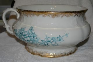 Antique Chamber Pot Knowles,  Taylor & Knowles Gold Trimmed Very Good photo