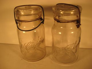 The Clyde Set Canning Jars Script Set Rare photo