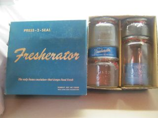 1930 ' S Silex 4 Piece Fresherator Jar Set New In Box All photo