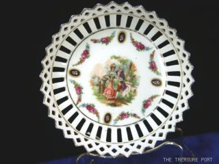 Antique Germany Schumann Porcelain Reticulated Bowl Appraised Value $350 photo