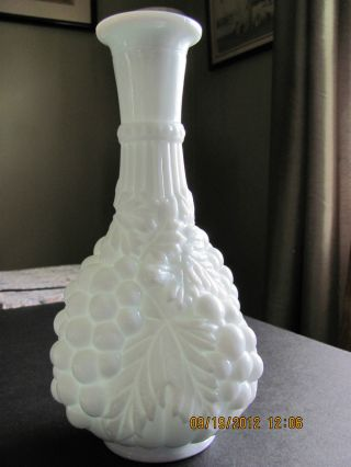 Antique Heavy Victorian Milk Glass Bottle photo