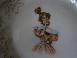 Antique R S Germany Victorian Girl Lady Porcelain 7 - 1/4