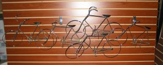 Curtis Jere Signed Chrome Bicycle Wall Sculpture photo