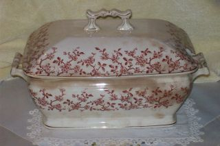 Antique Transwerware Ceramic Soup Tureen - Truly Old Large Soup Server photo