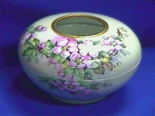 Antique Porcelain Hand Painted Hair Receiver - B And C Co,  France - photo