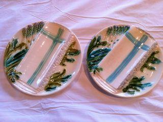 Salins Asparagus Majolica Plates photo