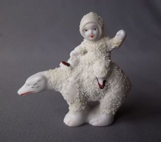Antique Hand Painted Bisque German Snowbaby With Polar Bear Figurine photo