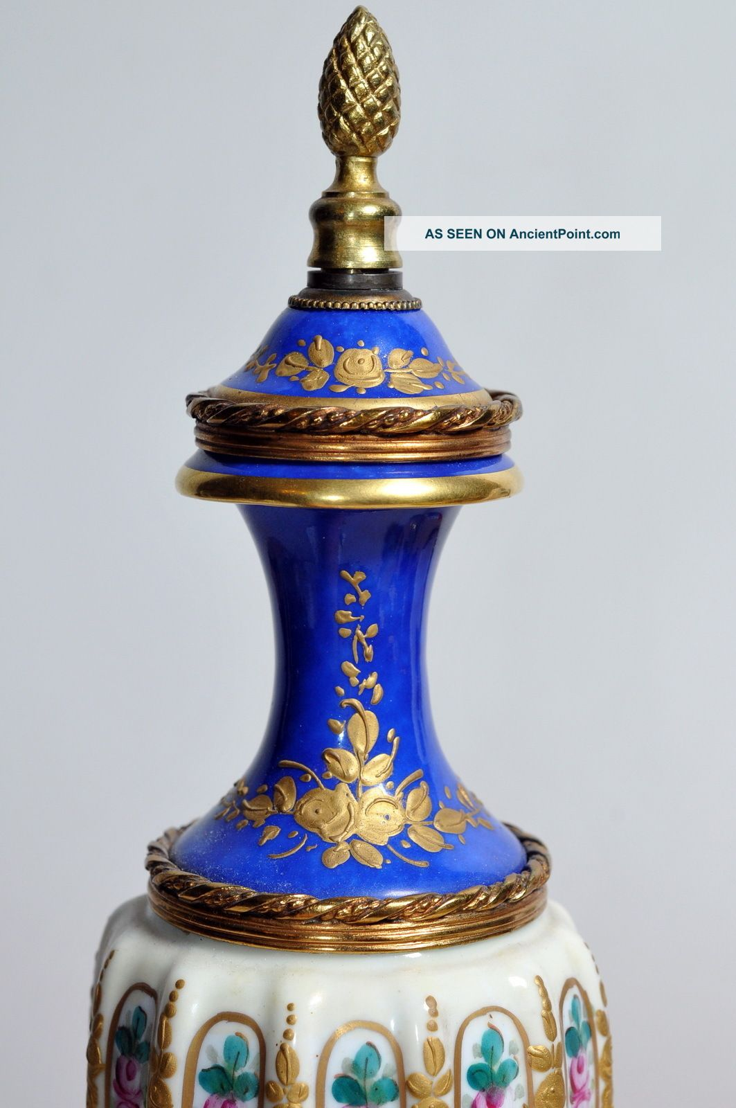 Late 1800s antique french sevres twisted porcelain gilt bronze late 1800s antique french sevres twisted porcelain gilt bronze urn vase reviewsmspy