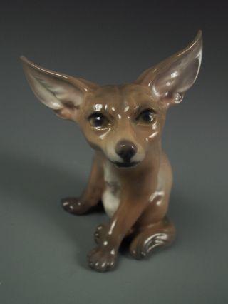 Rare Dahl Jensen Copenhagen Porcelain Desert Fox Figurine 1236 Excellent photo