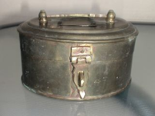 Vintage Brass Money Box - Piggy Bank photo