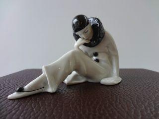 Gebruder Heubach - Seated Pierrot Figure - German C1940 photo