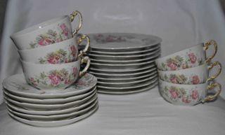 Antique,  Vintage Limoges France Plates,  Saucers & Cups Set Of 23 - Outlet - Us☀ photo