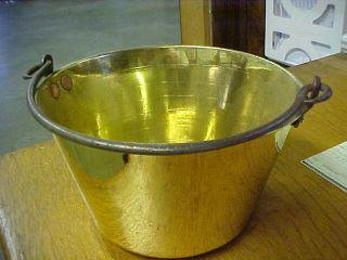 Antique Brass Bucket 8