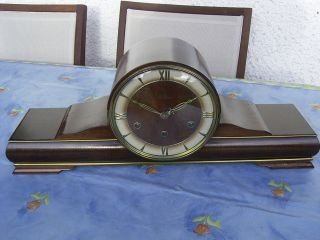 Antique German - Lauffen - Westminster 4/4 Mantel Clock At 1920 - 1930 photo