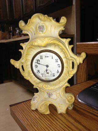 Vintage Antique Porcelain Clock photo