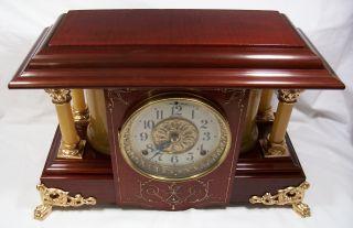 Antique Seth Thomas Adamantine Mantel Clock Model Shasta Restored Nr Look photo