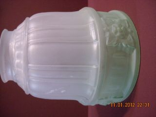 Vintage Glass Lamp Shade. . . .  Condition. . . . . . . . . photo