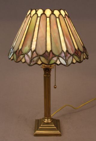 Duffner & Kimberly Leaded Stained Glass Boudoir Lamp photo