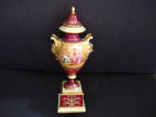 Antique Royal Vienna Porcelain Portrait Vase Signed photo