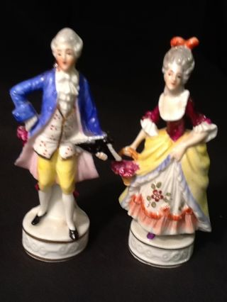 Exquisite Pair Of Antique German Porcelain Figurines Half Doll Related photo