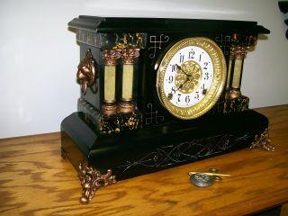 Large Seth Thomas Adamantine Mantel Clock photo