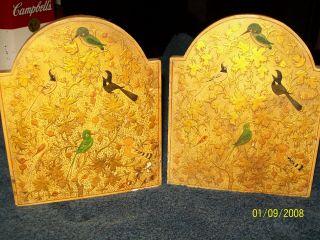 Vintage Paper Mache Decorative Bookends By M.  Qasim & Bros.  Dalgate Handmade photo