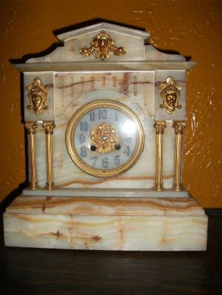 Victorian Marble And Gilt Clock photo