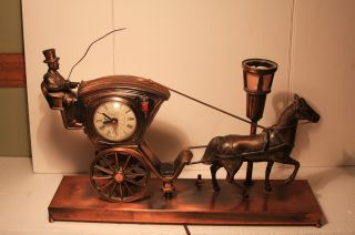 Vintage United Horse And Carriage Clock Lantern 16