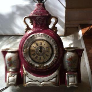 Antique T - 3 Lanshire Lamp/clock Combo Pickup Only photo
